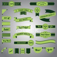 Discount retro ribbon green set