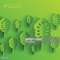 Green eco neture tree vector illustration background concept