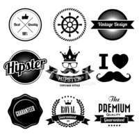 Hipster,Crown,Mustache,Sung...