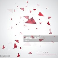 Vector color background abstract polygon triangle