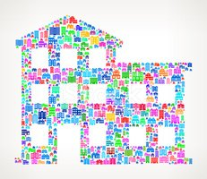 Appartment Building Real Estate royalty free vector art Pattern