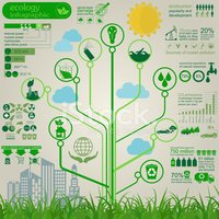 Infographic,Water,Green Col...