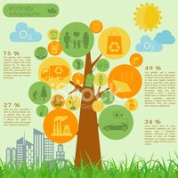 Infographic,Recycling,Tree,...