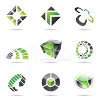 Abstract black and green Icon