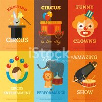 Poster,Circus,Showing,Perfo...