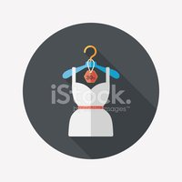 shopping dress flat icon with long shadow,eps10
