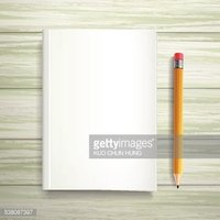 blank book template and pen