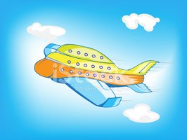Flying Airplane Cartoon Clipart Images