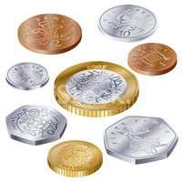 UK Coins Side View Clipart Images | High-res Premium Images