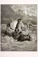 Sea Monster,Monkey,Etching,...