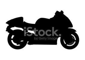 Motorcycle,Silhouette,Ilust...