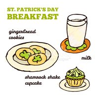 St. Patrick's Day,glass of ...
