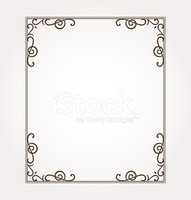 Beautiful ornate frame and card decoration