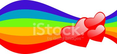 Rainbow,Heart Shape,Banner,...
