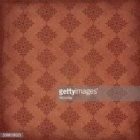 Vintage wallpaper with diamond shape ornaments