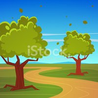 Dirt Road,Walking,Cartoon,C...