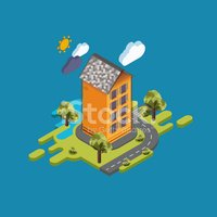 Flat,Isometric,Map,Design,C...