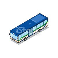 Pixelated,Blue Bus,Small,Is...