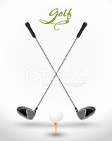 Golf Background Game Two Crossed Golf Clubs Ball Clipart Images