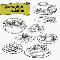 Cuisine nationale d 39 arm nie images vectorielles for Armenian national cuisine