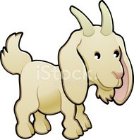 Goat,Farm,Cartoon,Animal,Ch...