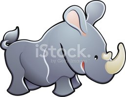 Rhinoceros,Safari,Cartoon,A...