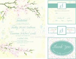 Cherry Blossom,Invitation,t...