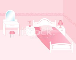 Bedroom,Bed,Pink Color,Furn...