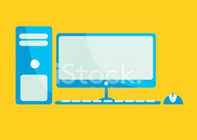 Desktop Computer Flat Icon
