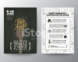 Food Festival Poster Brochure Flyer design Layout template