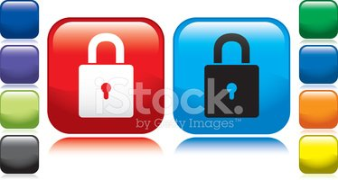 Padlock,Red,Square Shape,In...