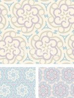 Pastel Floral Cogs - seamless Patterns