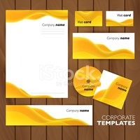 Corporate identity business set design.