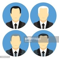 Flat style business men with four haircuts