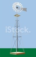 Weather Vane,Mill,Small Tow...