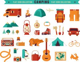 Icon Set,Camping,Symbol,Vac...