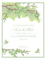 Cherry Blossom and Bird Styled Wedding Invitation