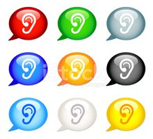 Speech Bubble Icon | Ear