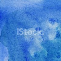 Blue watercolor background with paint movement