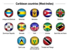 Flags - Caribbean countries (West-Indies)