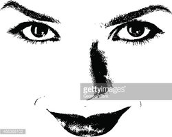 Black And White Drawing Of Beautiful Eyes With Moon And Roses... Royalty  Free Cliparts, Vectors, And Stock Illustration. Image 141173419.