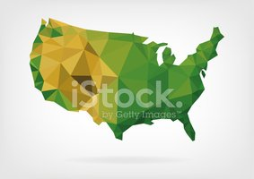 Vector,USA,polygonal,The Am...