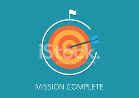 mission complete concept flat icon