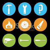 tool icons set great for any use. Vector EPS10.