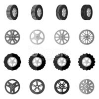 Tire,Icon Set,Collection,Si...