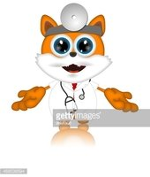 Marvin Cat Pet Veterinarien Cartoon Animal funny