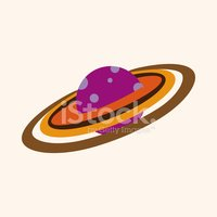 Space planet flat icon elements background,eps10