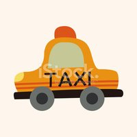 Transportation taxi flat icon elements background,eps10