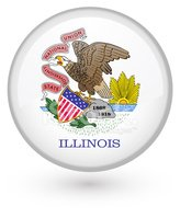 Illinois,Flag,Election,Push...