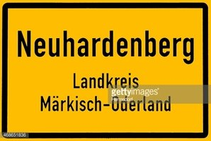 City sign of Neuhardenberg in Germany
